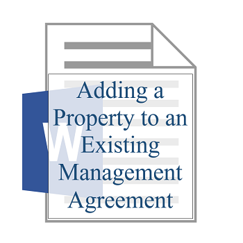 Adding a Property to an Existing Management Agreement 350