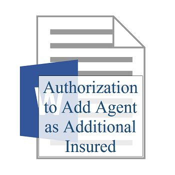 Authorization to Add Agent as Additional Insured 350