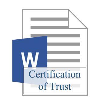 Certification of Trust 350