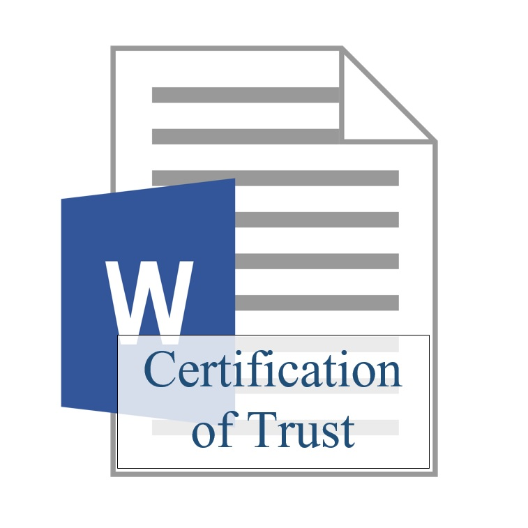 Certification of Trust - Training Property Managers