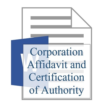 Corporation Affidavit and Certification of Authority 350