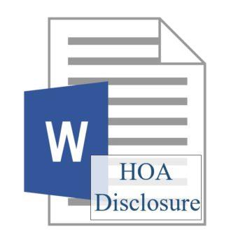 HOA Disclosure 350