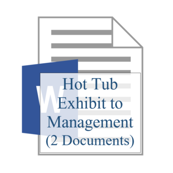 Hot Tub Exhibit to Management