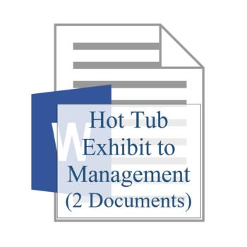 Hot Tub Exhibit to Management