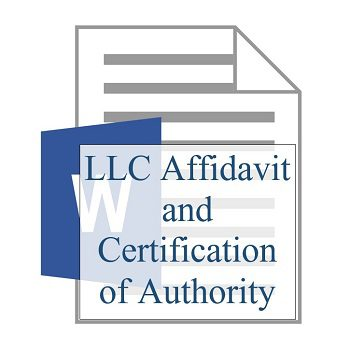 LLC Affidavit and Certification of Authority 350