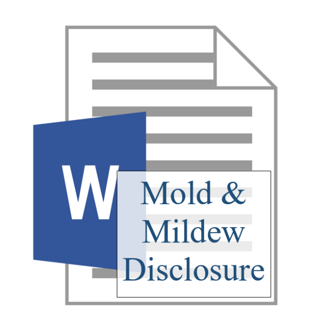 Mold & Mildew Disclosure