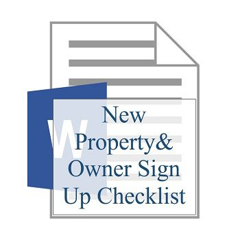 New Property and Owner Sign Up Checklist 350