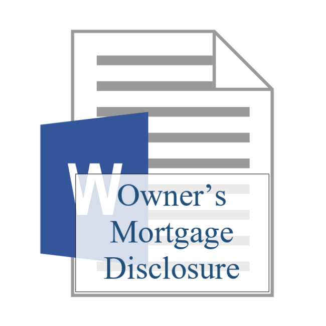 Owner's Mortgage Disclosure