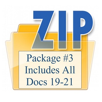 Package #3 Includes All Docs 19-21 350