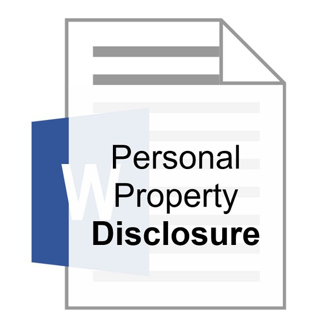 Personal Property Disclosure Robert Locke Training Property Managers