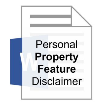 Personal Property Feature Disclaimer Robert Locke Training Property Managers