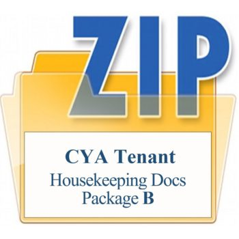CYA Tenant Package B Housekeeping Documents Training Property Managers