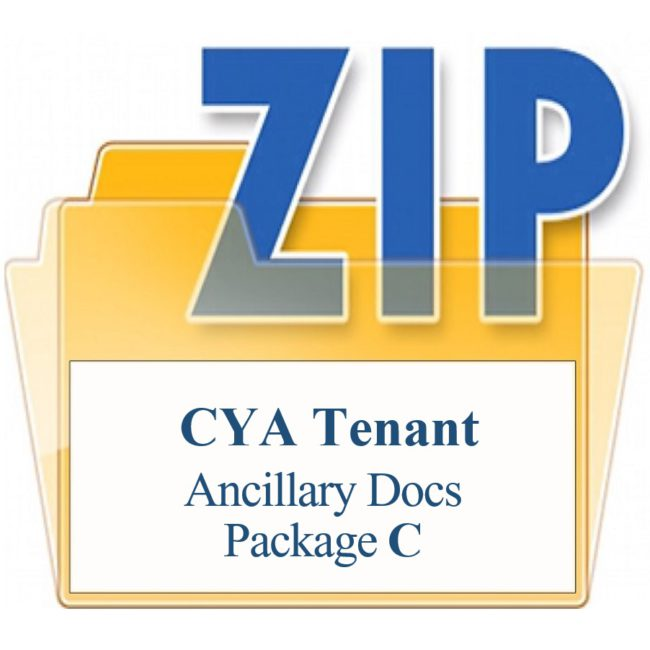 CYA Tenant Package C Ancillary Documents Training Property Managers