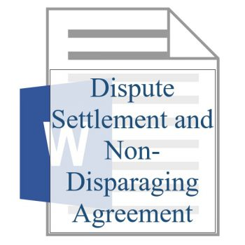 Dispute Settlement and Non-Disparaging Agreement - Resident Sign Up - Training Property Managers LLC