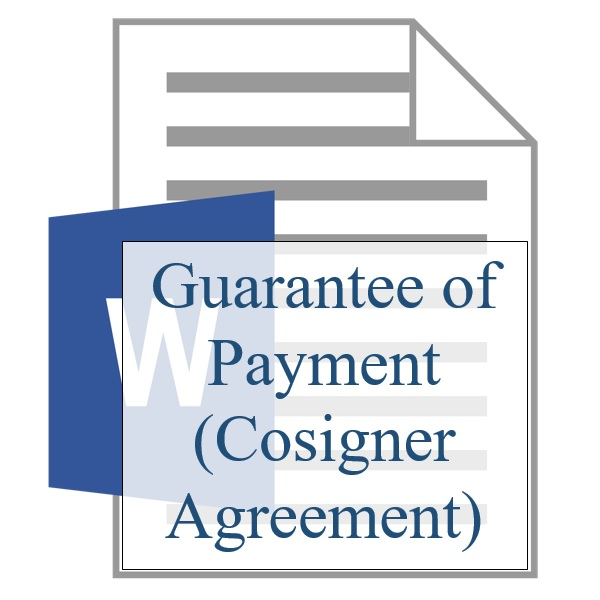 Guarantee Of Payment Cosigner Agreement Property Management Training