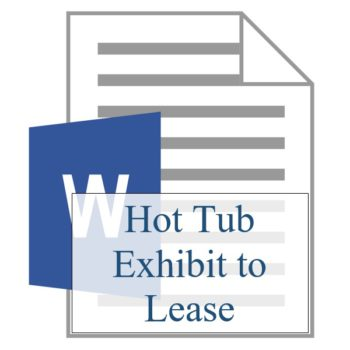 Hot Tub Exhibit to Lease - Resident Sign Up - Training Property Managers LLC