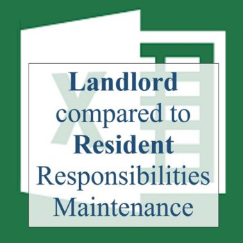 Landlord compared to Resident Responsibilities Maintenance