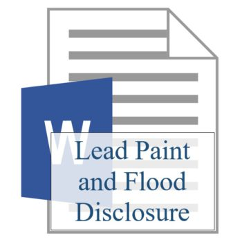 Lead Paint and Flood Disclosure - Resident Sign Up - Training Property Managers LLC