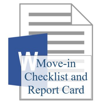 Move-In Checklist and Report Card - Resident Sign Up - Training Property Managers LLC