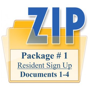 Package # 1 Resident Sign Up Documents 1-4 Training Property Managers LLC