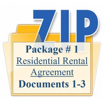 Package # 1 Residential Rental Agreement Documents 1-3