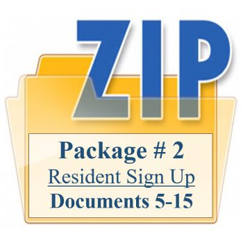 Package # 2 Resident Sign Up Documents 5-15 Training Property Managers LLC