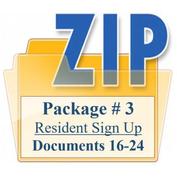 Package # 3 Resident Sign Up Documents 16-24 Training Property Managers LLC