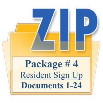 Package # 4 Resident Sign Up Documents 1-24 Training Property Managers LLC