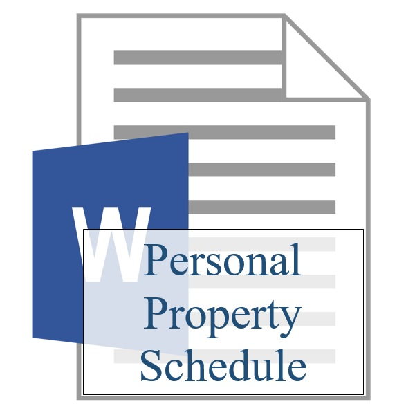 Personal Property Schedule - Resident Sign Up - Training Property Managers LLC