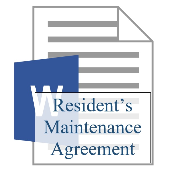 Residents Maintenance Agreement Resident Sign Up Training
