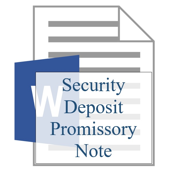 Security Deposit Promissory Note  Training Property Managers