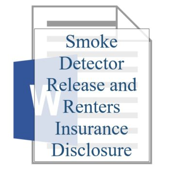 Smoke Detector Release and Renters Insurance Disclosure - Resident Sign Up - Training Property Managers LLC