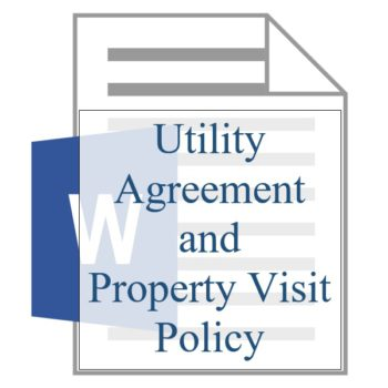 Utility Agreement and Property Policy - Resident Sign Up - Training Property Managers LLC