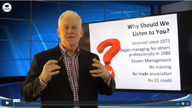 Why Listen to Training Property Managers MPM RPM NARPM Robertn Locke