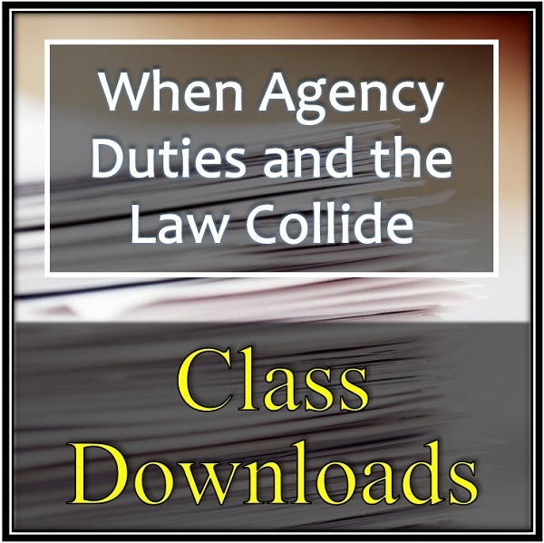 When Agency Duties and the Law Collide Download Logo Training Property Managers Robert Locke