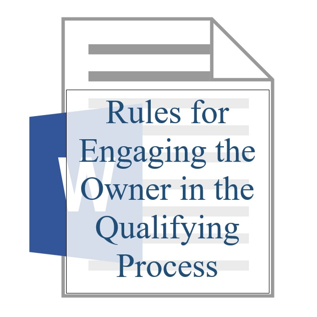 Rules for Engaging the Owner in the Qualifying Process