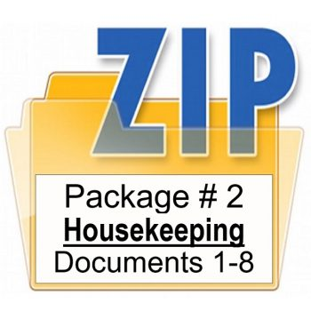 Customized PMA Housekeeping Document Package Training Property Managers