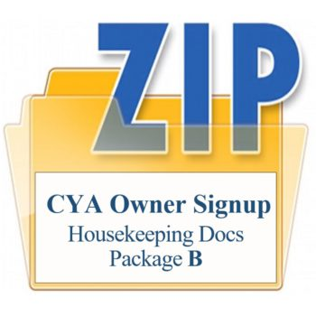 Housekeeping Docs New Owner Sign Up Package B