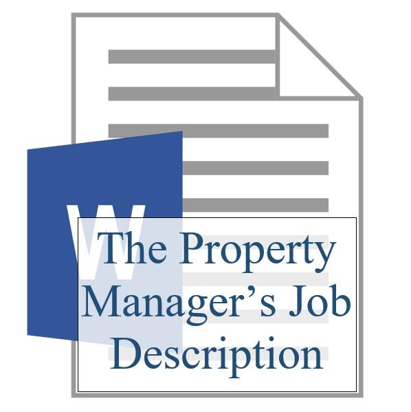 The Property Manager's Job Description Logo