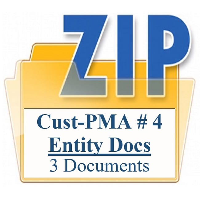 Customized Property Management Agreement Package 4 Entity