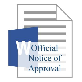 Official Notice of Approval