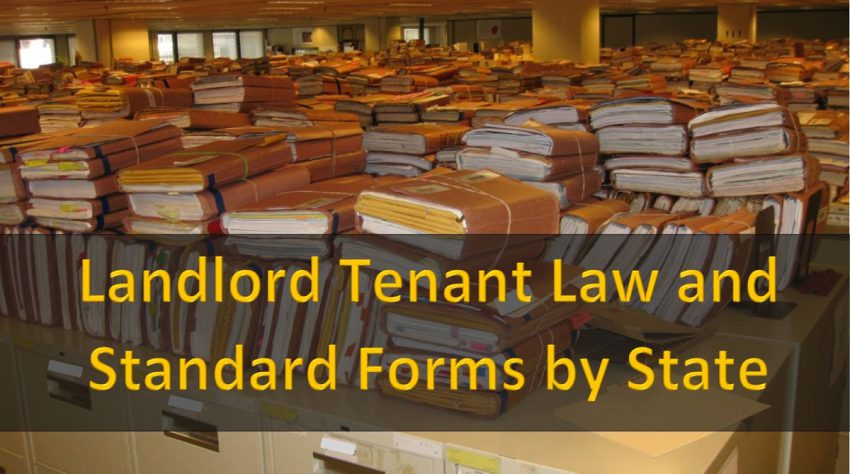 Landlord Tenant Law and Standard Forms by State