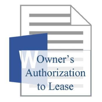 Owner's Authorization to Lease