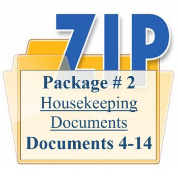 Package 2 Housekeeping Support Documents 4-14
