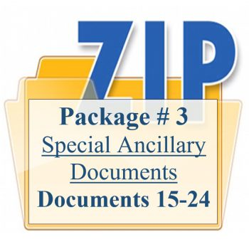 Package 3 Special Ancillary Documents to be used WHEN APPROPRIATE Documents 15-24