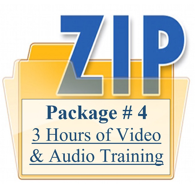 3 Hours Of Video & Audio Training Package 4 Training