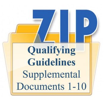 Qualifying Guidelines Supplemental Documents 1-10