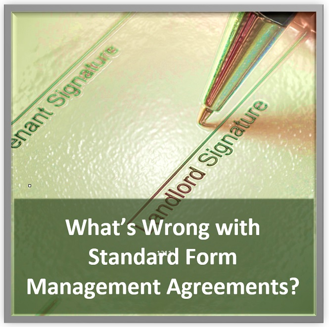 What'S Wrong With Standard Form Management Agreements - Training