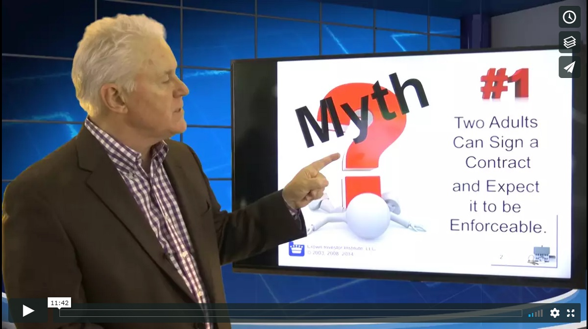 Myth 1 Adhesion Contract Training Property Managers Robert Locke MPM RPM Crown Investor Institute