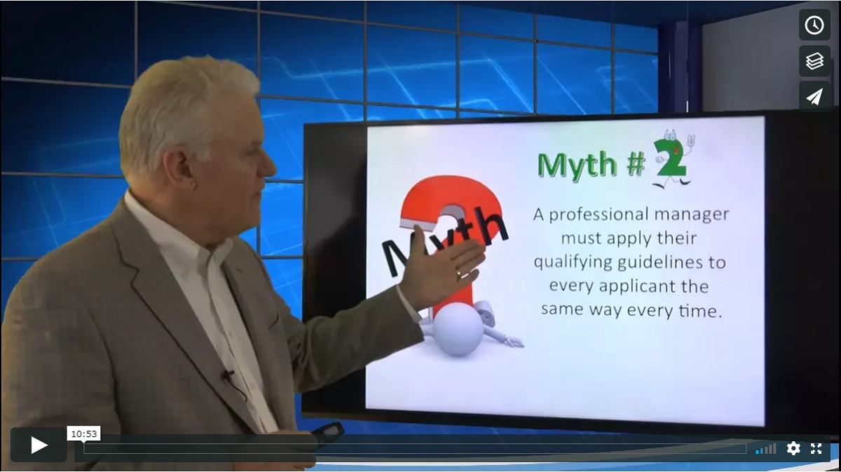 Myth 2 Qualifying Guideline Variations Training Property Managers Robert Locke MPM RPM Crown Investor Institute